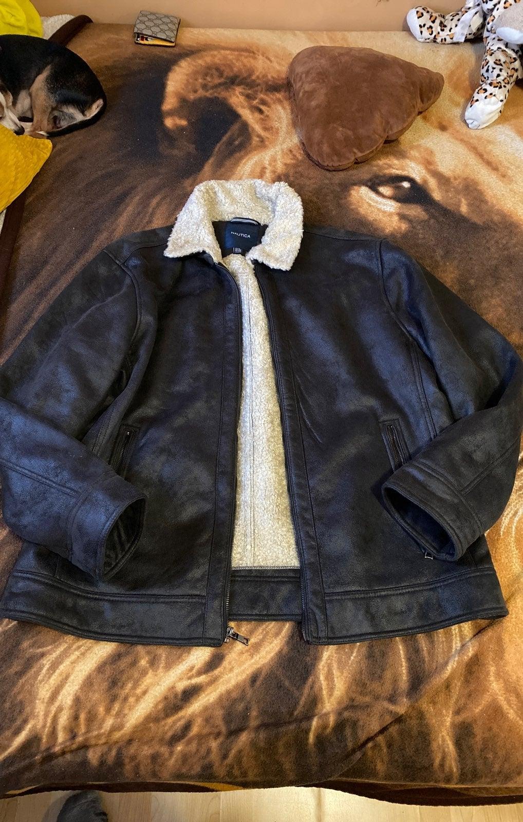 Nautica Faux Leather Jacket