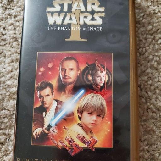 Star Wars the Phantom Menace VHS