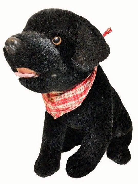 Circo Black Labrador Retriever Plush Dog