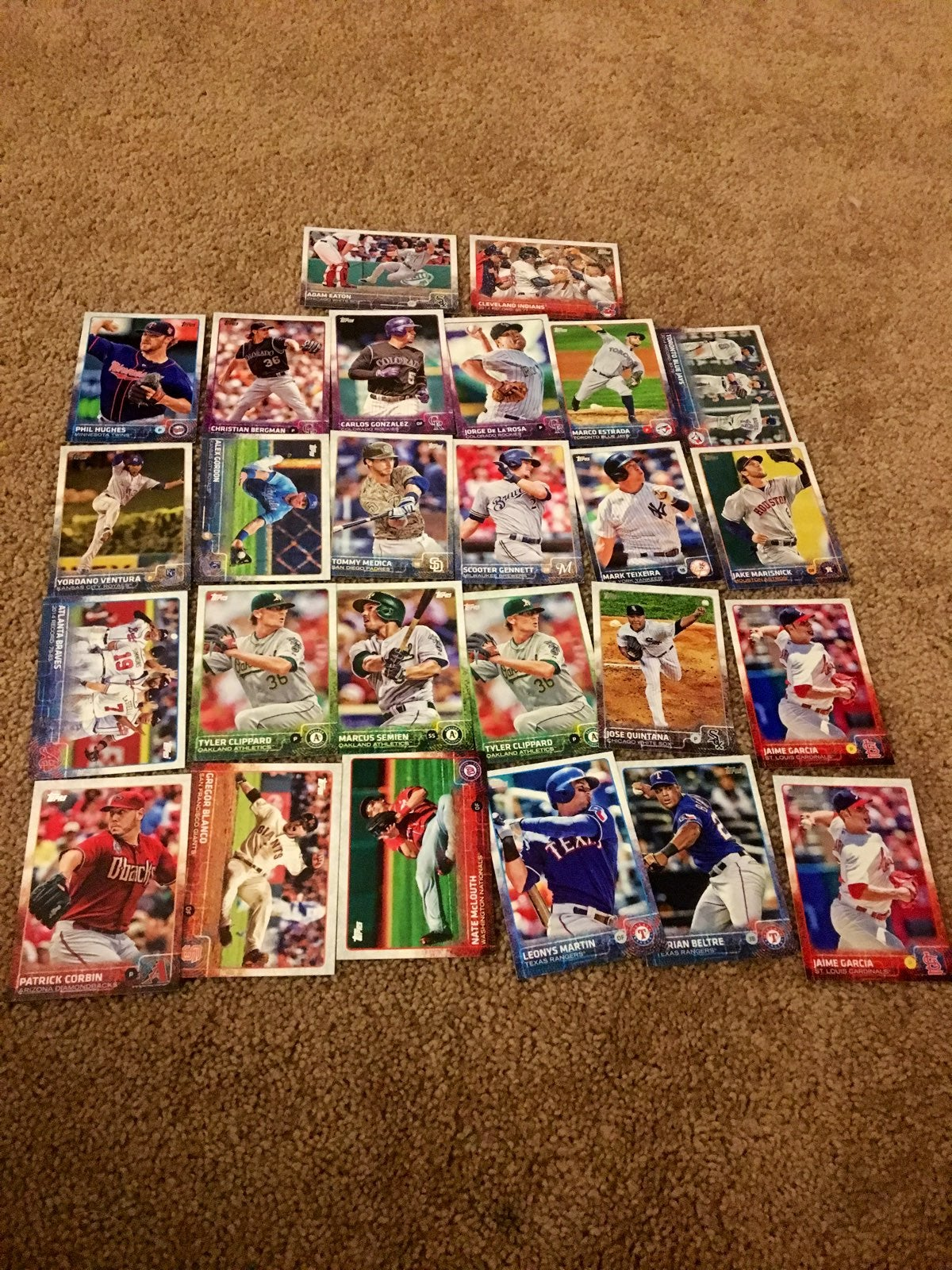 Lot Of 26 Baseball Cards From 2015