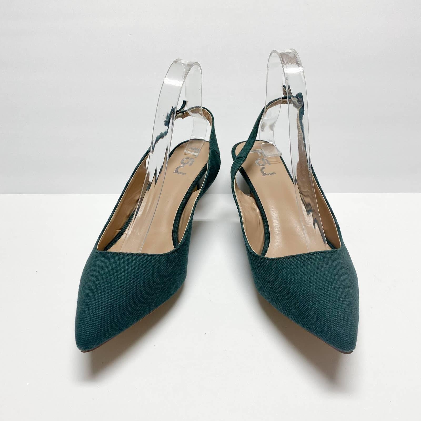 FSJ Slingback Pointed Toe Slip On Heels