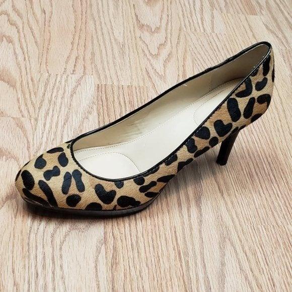 CK Odette Calf Hair Leopard Pumps 8M