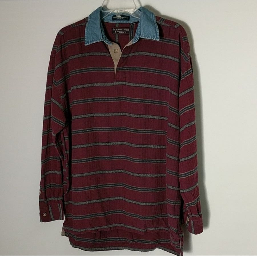 Roundtree& Yorke Pullover Flannel L