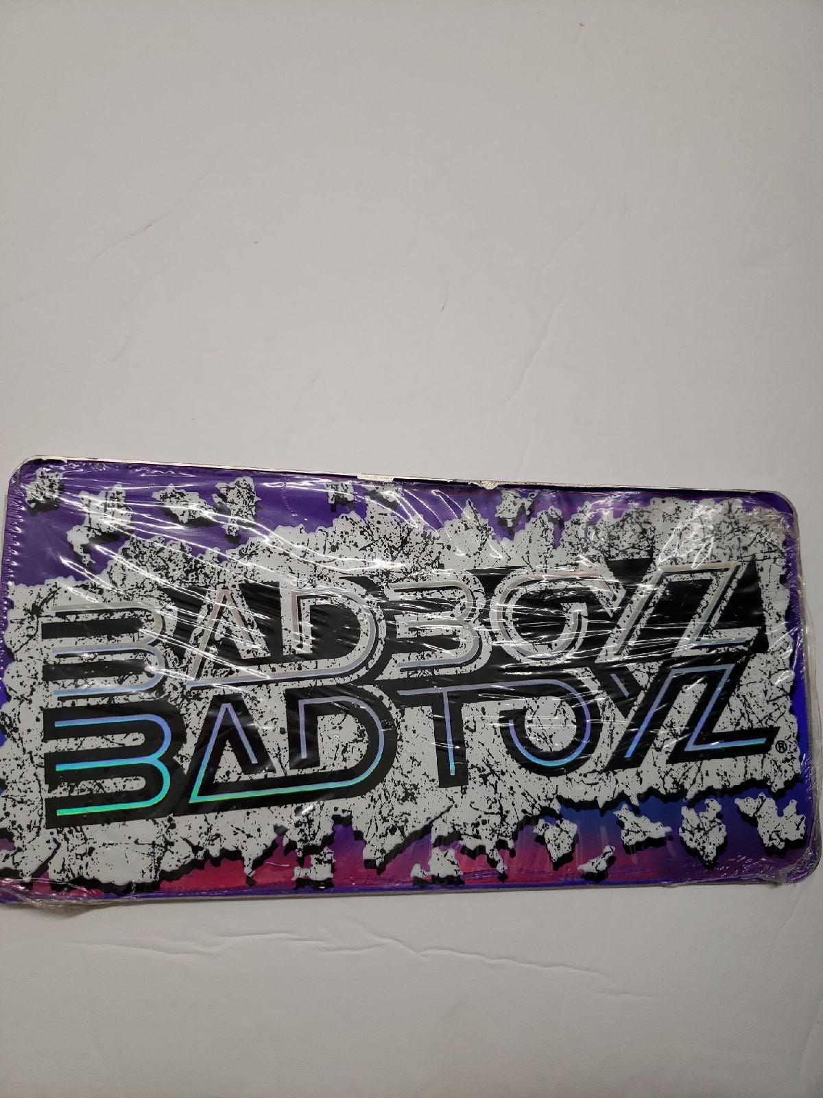 Badboyz badtoyz purple license plate new