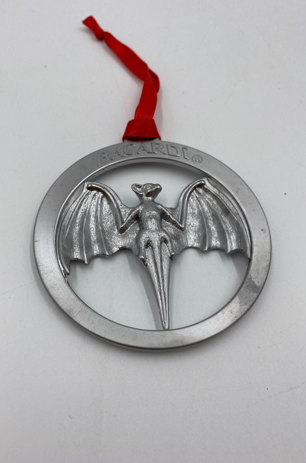 Bacardi bat ornament metal rum