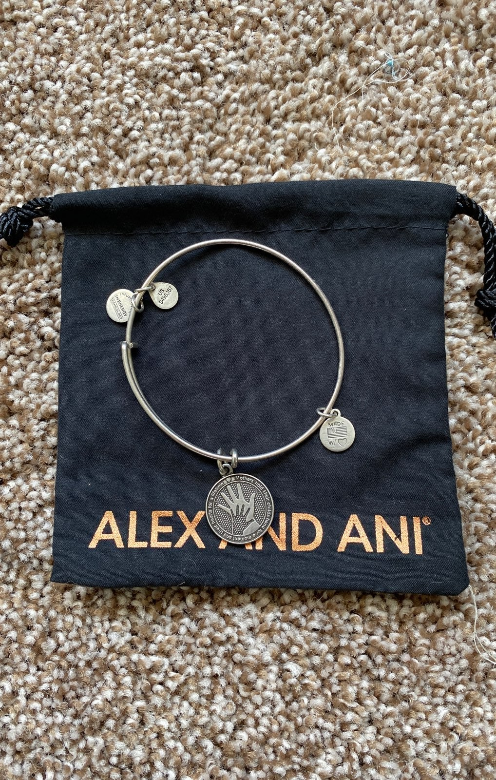 Alex and Ani bracelet - hand in hand mot