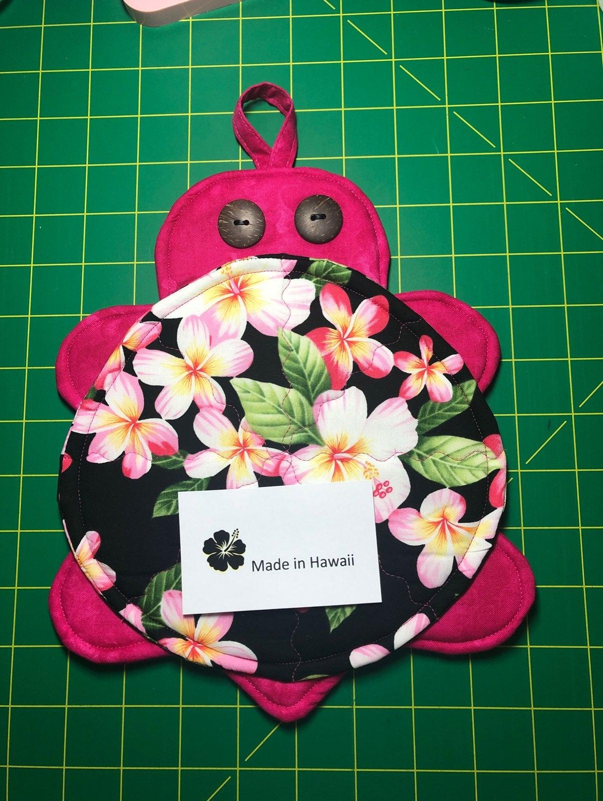 Handmade honu pot holder/hot pad