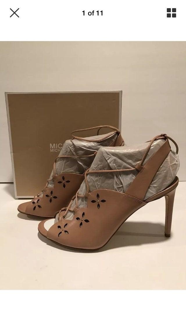 Michael Kors Lace Up Sandals Beige 10 M