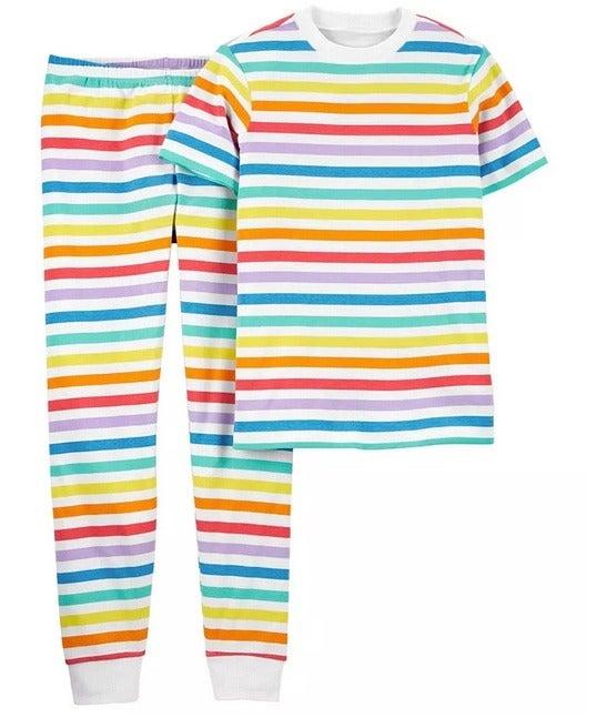 NWT carters XL adult pajamas rainbow uni