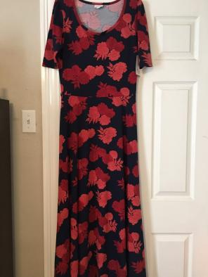 Shop New And Pre Owned Lularoe Rose Print Dresses Up To 70 Off At