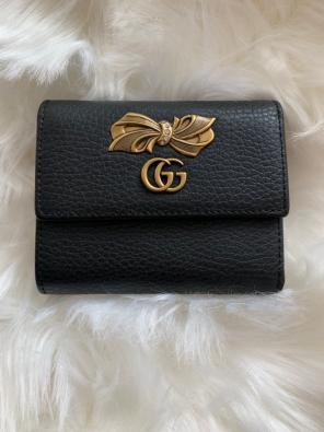 4457e8cc5a2 Shop New and Pre-owned Gucci Leather Wallets for Women
