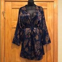 Victoria's Secret Navy Gold Kimono Robe