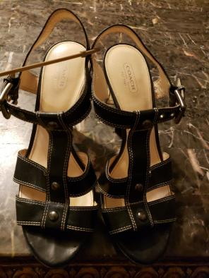 06d85902ea4 Coach Tan Fredrica s Leather Loafer Flat.  55 · COACH Ginger Black Strappy  Heels - Sz 10