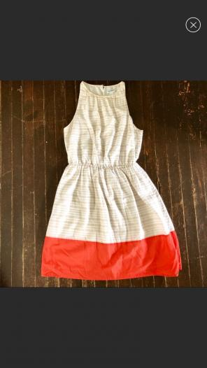 f318b25ef2f6 Old Navy Dress.  10 · Tan + White Sundress With Coral