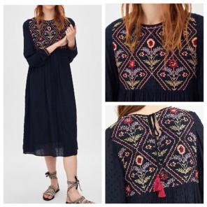 5a609fa7686 Shop New and Pre-owned ZARA Embroidered Detail Dresses