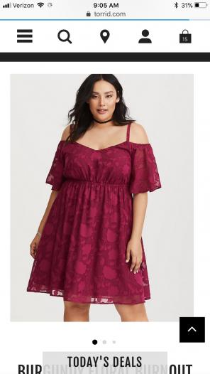 5e600aaa2aa Torrid BURGUNDY FLORAL CHIFFON DRESS