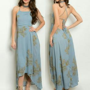 fb0d35eefbe1 AQUA HONEY PUNCH maxi Dress Small.  17 · BLUE  TAN HI-LOW MAXI DRESS MEDIUM