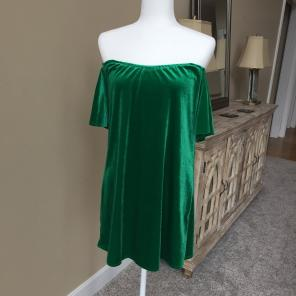 c138413dd90 NWT Gianni Bini Dress.  19 · Velvet Off-Shoulder Dress