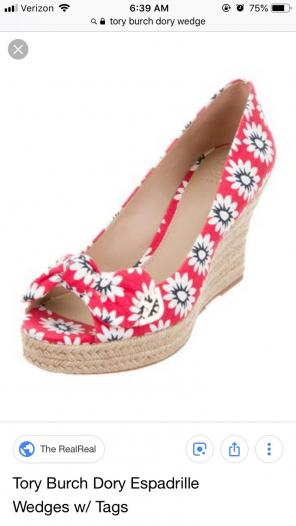 802de5bfe Shop New and Pre-owned Tory Burch Jute Wedge Shoes