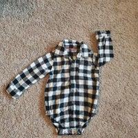 Flannel onezie
