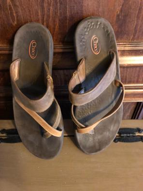 ac04d14057b1 Chaco All Leather Flip Flops Size.  73. Chacos
