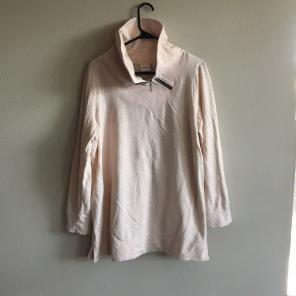 9b7082589d939 Chico s NWT Open Knit Sweater Shirt.  23. Free shipping. NWOT Light Pink  Cowlneck pullover