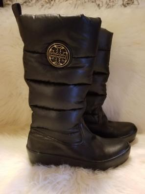 5e085fdeb22 Tory Burch Puffer Wedge Boots Size 8