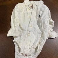 White button up onsie