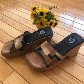 66c49c6f5 Shop New and Pre-owned Yellow Box Leather Sandals